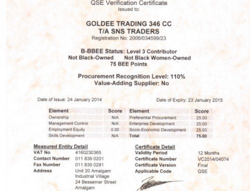 BEE Certification