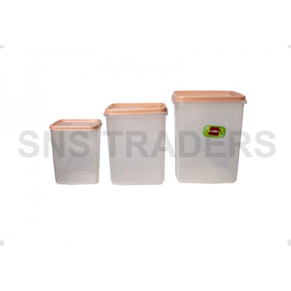 Container 03 Pcs Square Keepwell