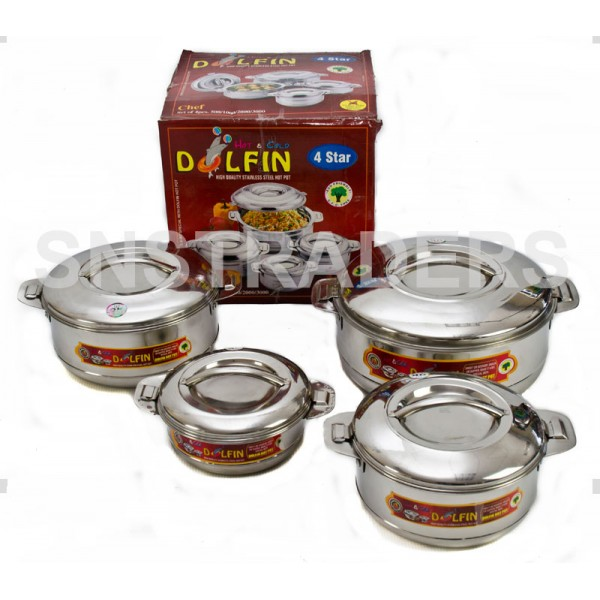 Dolfin Stainless Steel Hot Pots - 4 Piece Set