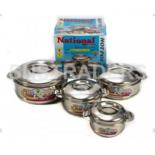 National Stainless Steel Hot Pot - 04 Piece Set