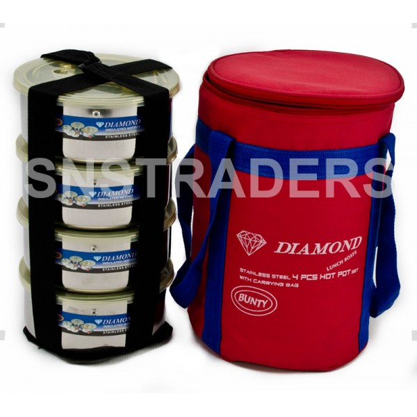 Diamond Stainless Steel Hot Pots with Insulated Bags