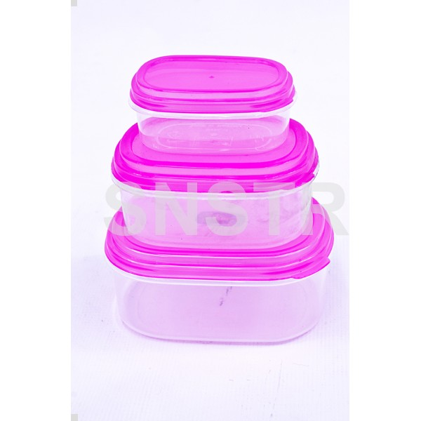 Container 03 Pcs Oval