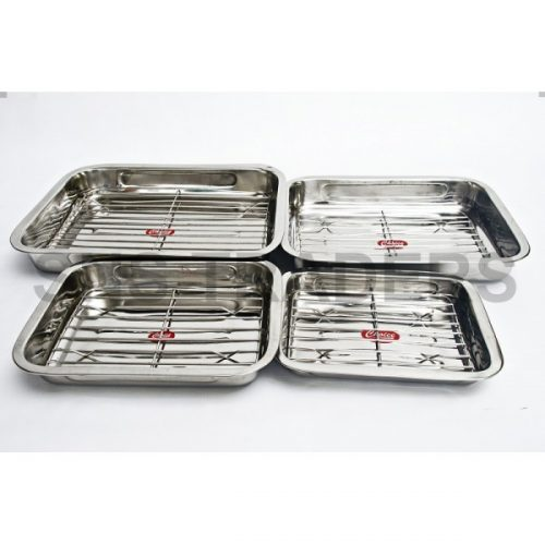 Baking Tray with Side Handle & Grill