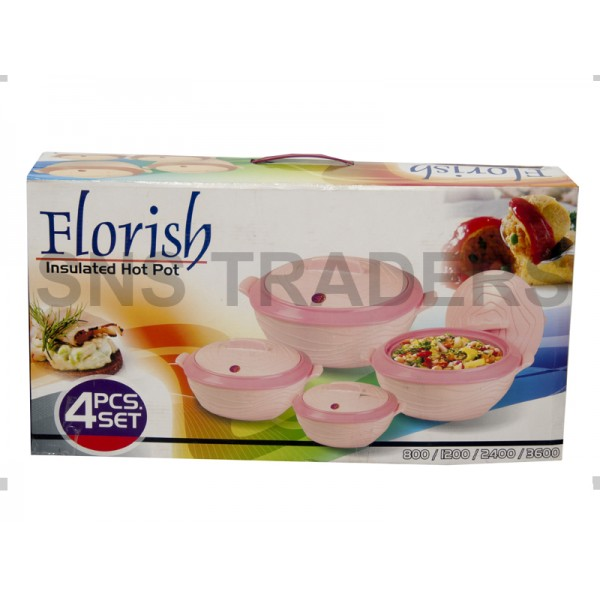 Flourish Hot Pots - 04 Piece