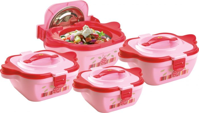 Lock & Fresh 04 Piece Hot Pot Set