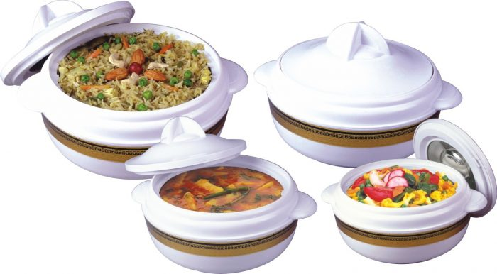 Crescent 04 Pc Hot Pot Set