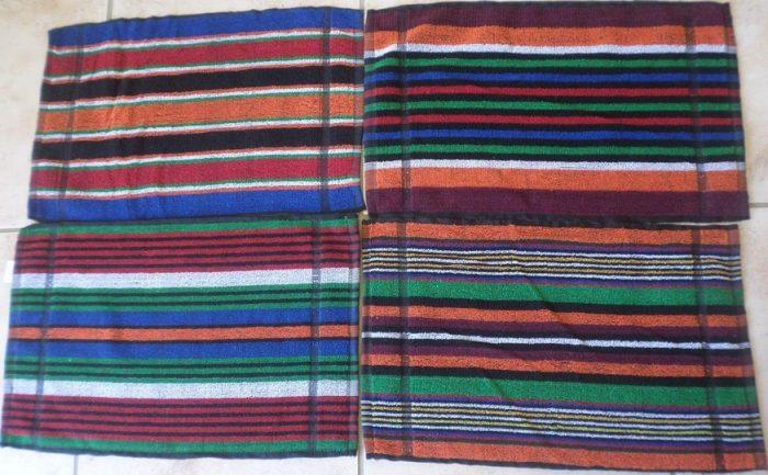 Dark Stripe Face Cloths